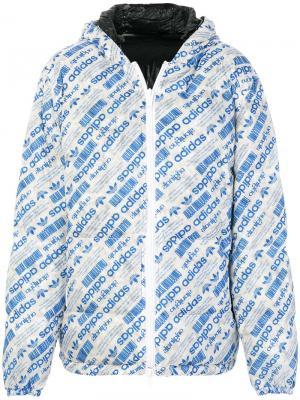 Двусторонняя куртка-пуховик с логотипом Adidas Originals By Alexander Wang. Цвет: синий