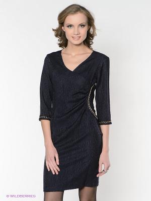Платье FRENCH HINT. Цвет: темно-синий, черный