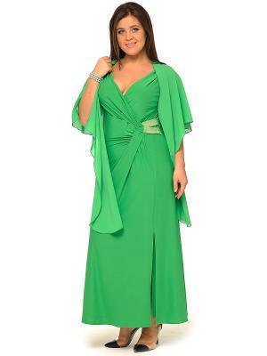 Платье, кардиган SVESTA. Цвет: зеленый