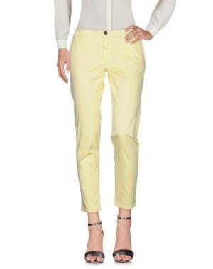 Повседневные брюки ROBERTA BIAGI. Цвет: светло-желтый
