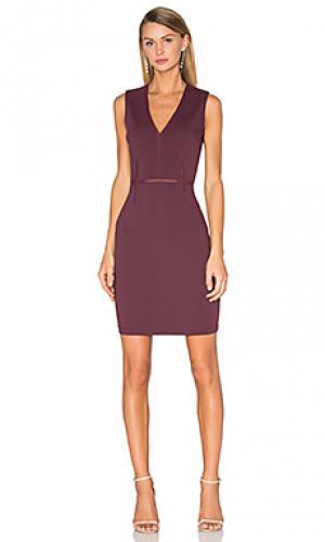 Мини платье real deal Bailey 44. Цвет: красное вино