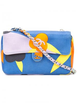 Mini flap shoulder bag Chanel Vintage. Цвет: многоцветный