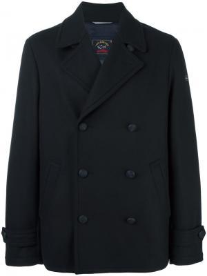 Двубортное пальто Paul & Shark. Цвет: синий