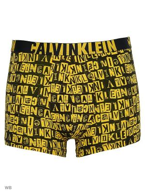 Трусы Calvin Klein. Цвет: черный, желтый