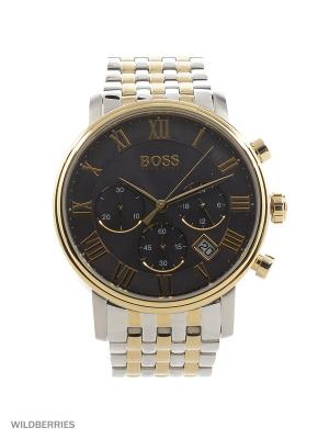 Часы HUGO BOSS. Цвет: золотистый, серебристый