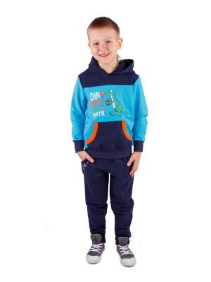 Джемпер, брюки Апрель. Цвет: бирюзовый, синий