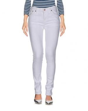 Джинсовые брюки NUDIE JEANS CO. Цвет: белый