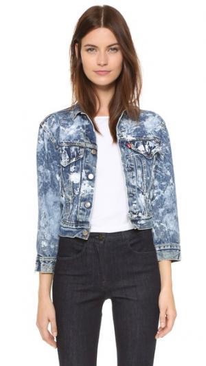 Винтажная джинсовая куртка Rialto Jean Project. Цвет: белый