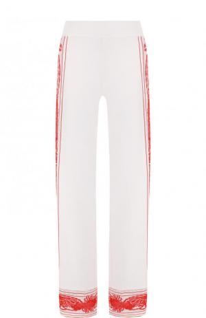 Расклешенные брюки с контрастной отделкой Roberto Cavalli. Цвет: белый