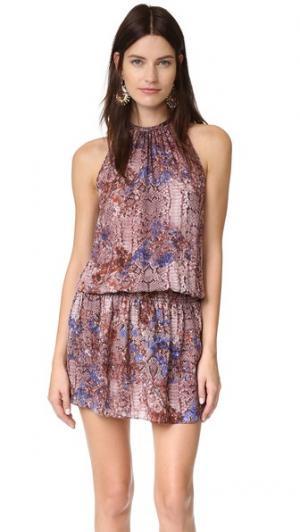 Платье без рукавов Paris Ramy Brook. Цвет: коньячный мульти