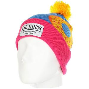 Шапка  Pon-pon Donuts Orange Lil Kings. Цвет: розовый,синий,оранжевый