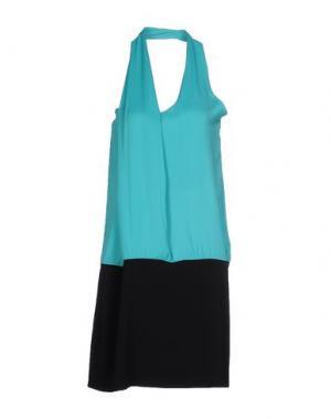 Короткое платье ANNARITA N.. Цвет: бирюзовый