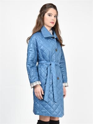 Пальто GRAFINIA. Цвет: голубой