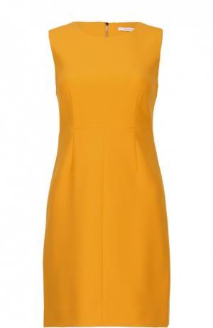 Приталенное мини-платье без рукавов с круглым вырезом Diane Von Furstenberg. Цвет: желтый