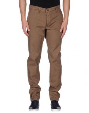 Повседневные брюки 0/ZERO CONSTRUCTION. Цвет: хаки