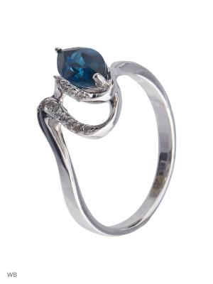 Кольцо Митра Ювелир. Цвет: серо-голубой, серебристый