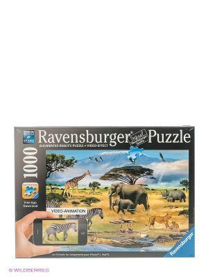 Пазл Животные Африки, 1000 шт Ravensburger. Цвет: черный, зеленый, голубой, бежевый