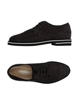 Обувь на шнурках PREZIOSO. Цвет: стальной серый