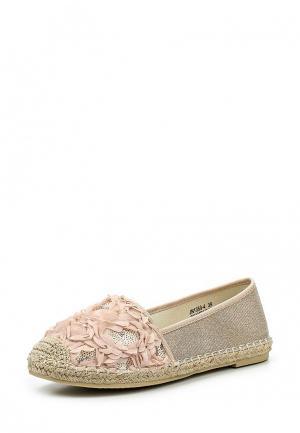 Эспадрильи Sweet Shoes. Цвет: бежевый