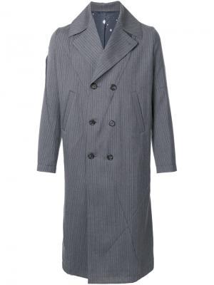 Двубортное пальто Undercover. Цвет: серый