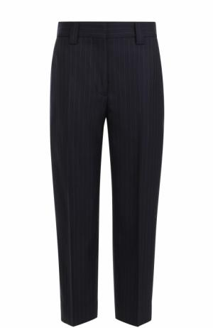 Укороченные шерстяные брюки со стрелками Acne Studios. Цвет: темно-синий
