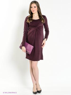 Платье Mama Licious. Цвет: бордовый