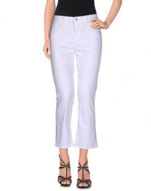 Джинсовые брюки-капри L'AGENCE. Цвет: белый