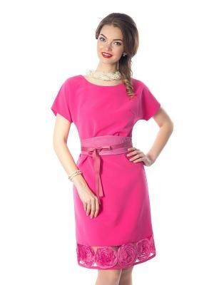 Платье Wisell. Цвет: фуксия
