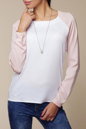 Блуза Ambigante. Цвет: white and pink