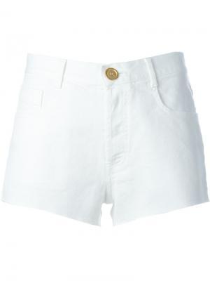 Джинсовые шорты Forte. Цвет: белый
