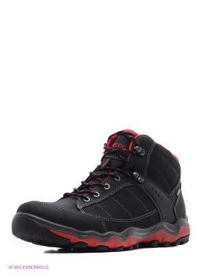 Ботинки ECCO. Цвет: черный, красный