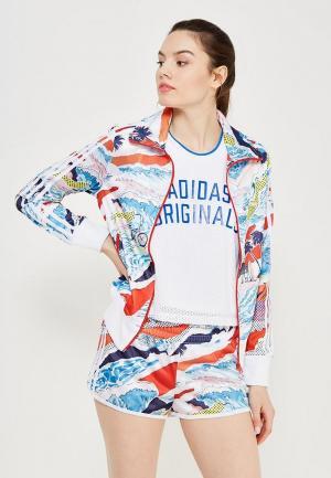 Олимпийка adidas Originals. Цвет: разноцветный