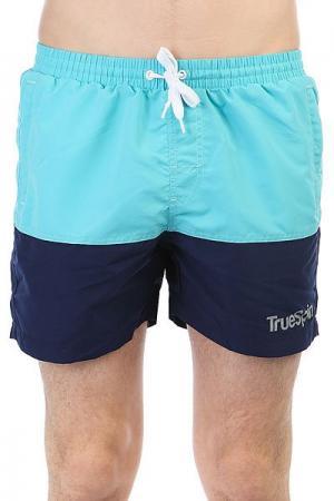 Шорты пляжные  Basics Swim Shorts Light Blue/Navy TrueSpin. Цвет: темно-синий,голубой