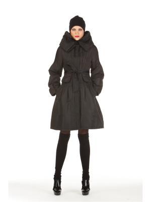 Демисезонное пальто BCVS makelove. Цвет: черный