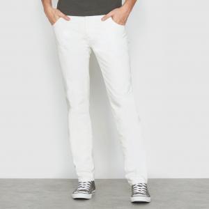 Джинсы с 5 карманами, узкого покроя SOFT GREY. Цвет: розовый,серый,темно-бежевый,экрю