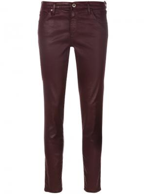 Coated skinny jeans Ag. Цвет: красный