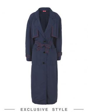 Легкое пальто ARTHUR ARBESSER x YOOX. Цвет: темно-синий