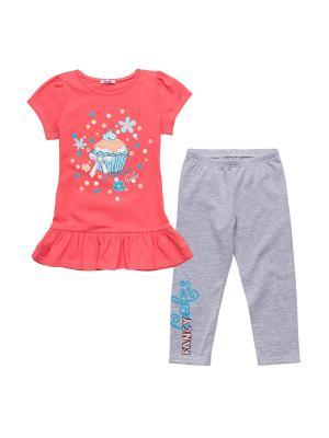 Комплект одежды NinoMio. Цвет: коралловый