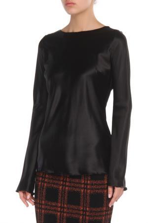 Полуприлегающая блузка с длинными рукавами Cristina Effe. Цвет: 2-6a 5, nero