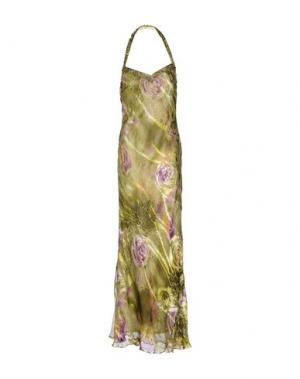 Длинное платье MUSANI COUTURE. Цвет: кислотно-зеленый