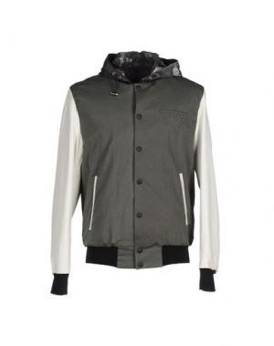 Куртка FALORMA. Цвет: зеленый-милитари