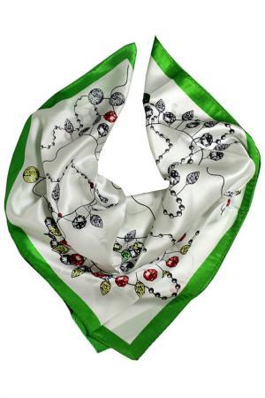 Шелковый платок SHALBE. Цвет: зеленый