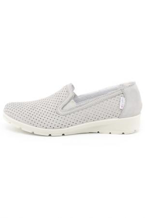 Туфли с перфорацией IMAC. Цвет: светло-серый