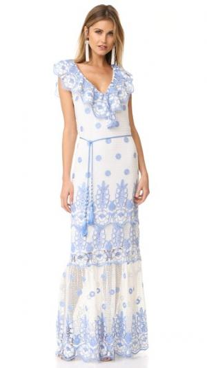 Макси-платье Audrey Miguelina. Цвет: чисто-белый/перванш