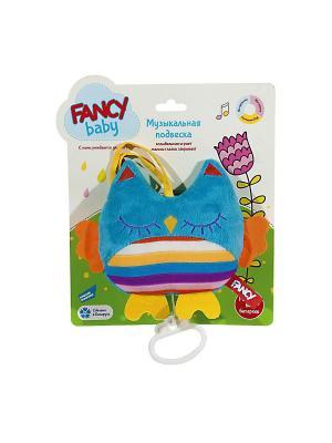 Игрушка развивающая-подвеска Совушка Fancy. Цвет: голубой