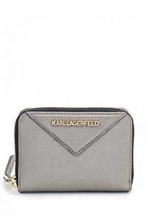 Кошелек Karl Lagerfeld. Цвет: серый