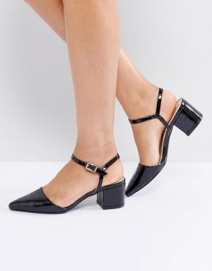 Truffle Collection Туфли на среднем каблуке с ремешком щиколотке. Цвет: черный