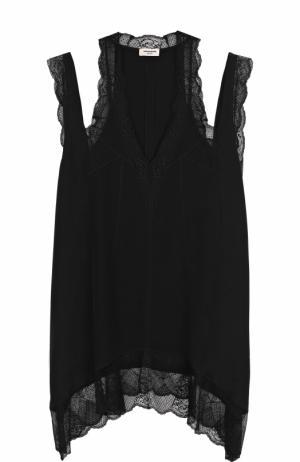 Шелковое мини-платье с кружевной отделкой Zadig&Voltaire WFCP3102F