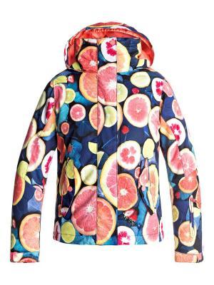 Куртка сноубордическая ROXY. Цвет: антрацитовый, коралловый, розовый