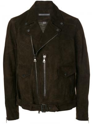Байкерская куртка John Varvatos. Цвет: коричневый